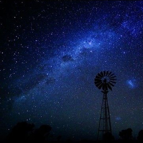 Southern Cross Windmill under the Milky Way