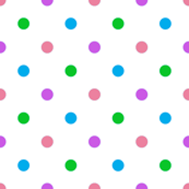 4-Color Polka Dot Coordinate