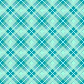 Plaid Teal Mint
