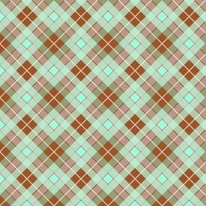 Plaid Chestnut Mint