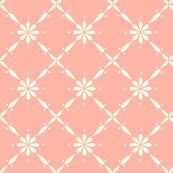 Charlotte Farmhouse Diamond Floral Peach