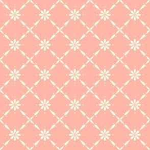 Charlotte Farmhouse Diamond Floral Peach