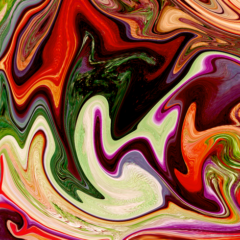 BNS7 - Large  Marbled Mystery Swirls in Brown, Orange and Green  fabric by maryyx on Spoonflower - custom fabric
