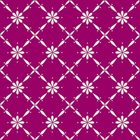 Charlotte Farmhouse Diamond Floral Plum fabric by thistleandfox on Spoonflower - custom fabric