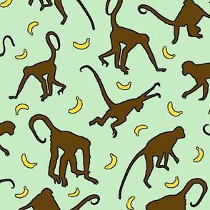 Banana Hunt - Dark Brown/Green - Large
