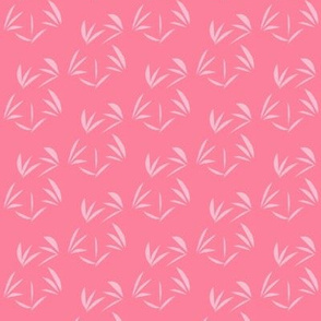 Lolly Pink Oriental Tussocks on Rosy Pink - Small Scale