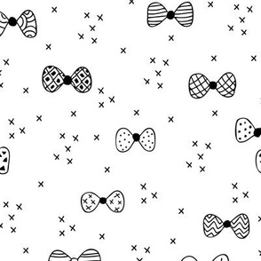 Sweet geometric bow tie hipster illustration cool great gatsy print black and white