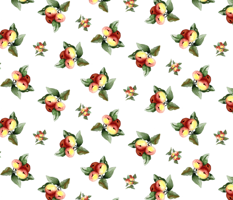 Christmas Crabapples fabric by susanbranch on Spoonflower - custom fabric