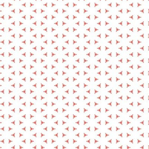 Red hexagon-based dots pattern