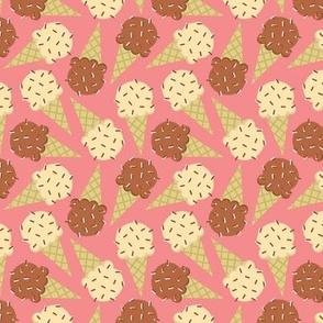 Sprinkle Cones on Pink