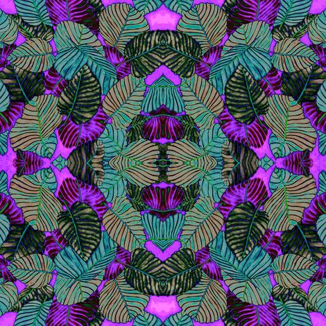 Sandbox tree leaves kaleidoscope fabric by mafaldita on Spoonflower - custom fabric