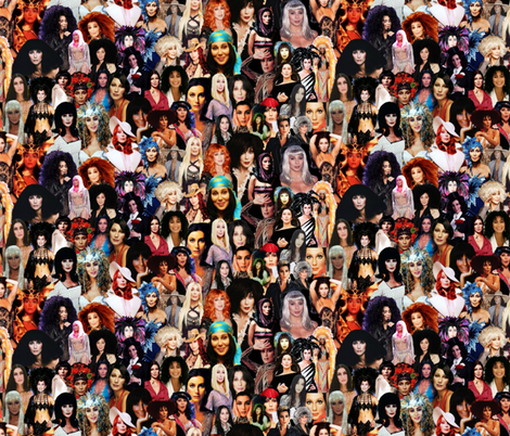 Cher Crazy fabric by hollywood_royalty on Spoonflower - custom fabric