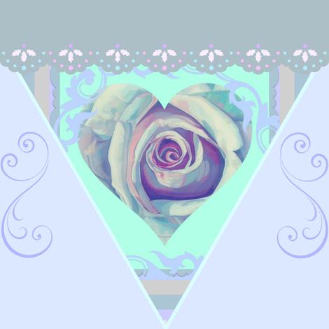 Heavenly Rose Bunting fabric by ann_aveyard on Spoonflower - custom fabric
