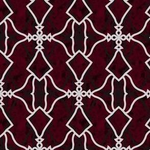 Mirrored Motif (Garnet)