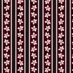 Floral Stripe (Garnet)