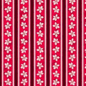 Floral Stripe (Cherry)