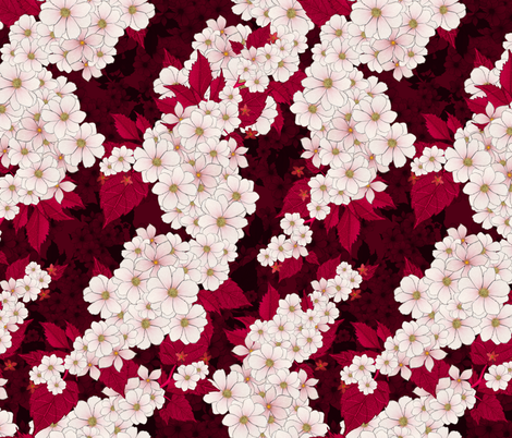 Higan-zakura (Garnet) fabric by hettygraham on Spoonflower - custom fabric