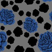 rock and rose v1 - indigo/black/grey