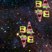 Sponge and Patrick in the Cosmos