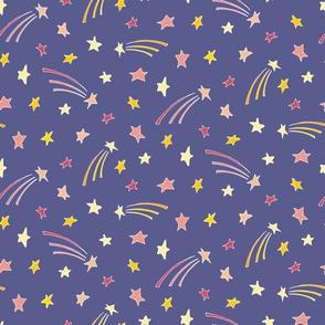 Stars - Purple & White