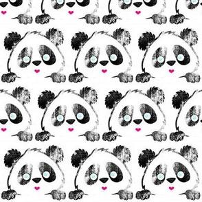 Panda Love black grunge