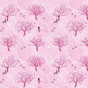 Cherry Trees Light Pink