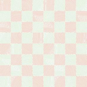 circle checker in cucumber and peach