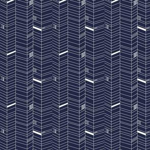 Herringbone -indigo