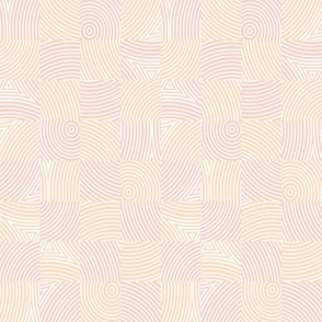 circle checker - peach and pale coral