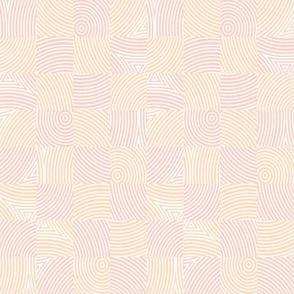circle checker - peach and pale coral