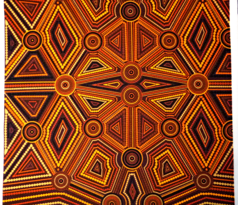 Australian Aboriginal Art Inspired brown