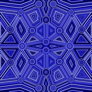 Australian Aboriginal Art Inspired blue