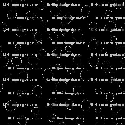 Black Dalmation Dots fabric - blissdesignstudio