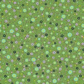 Char: Green - Dense Ditzy Dots