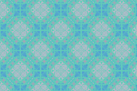 Pastel Damask fabric by gingezel on Spoonflower - custom fabric