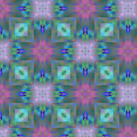 Soft Pinks and Greens Fractal Geometric fabric by gingezel on Spoonflower - custom fabric