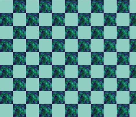 Blender dk green    2 inch check  fabric by koalalady on Spoonflower - custom fabric