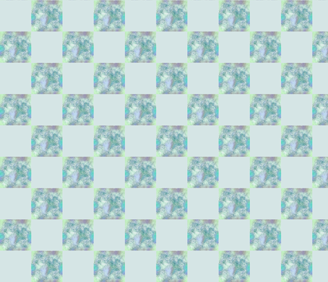 Blender Green Aqua    2 inch Check  fabric by koalalady on Spoonflower - custom fabric