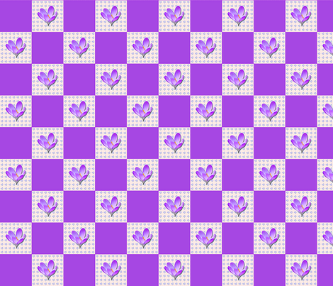 crocus   2 inch Check fabric by koalalady on Spoonflower - custom fabric