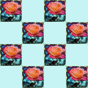 Rose   2 inch Checks