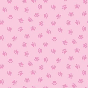 Zuko & Friends - Pawprints Pink