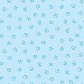 Zuko & Friends - Pawprints Blue