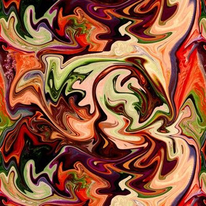 BNS7 - Marbled Mystery Swirls in Brown, Orange and Green