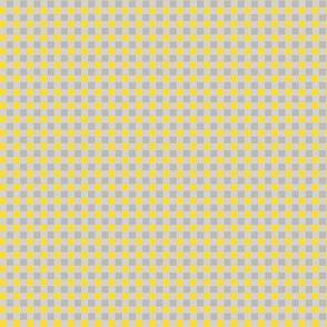 Whimsy Coordinate - Tiny Yellow and Grey Buffalo Plaid
