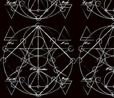 Elements Chart in Black Onyx fabric by elliottdesignfactory on Spoonflower - custom fabric