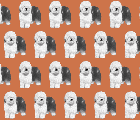 Old English Sheepdog fabric by sheepiedoodles on Spoonflower - custom fabric