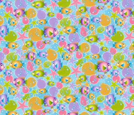 Deep Blue Sea fabric by jjtrends on Spoonflower - custom fabric