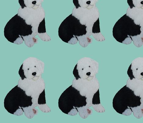 Puppy8 fabric by sheepiedoodles on Spoonflower - custom fabric