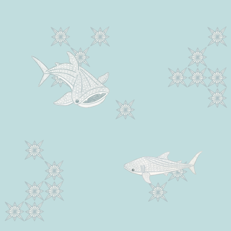 Whale Shark fabric by katfujihara on Spoonflower - custom fabric