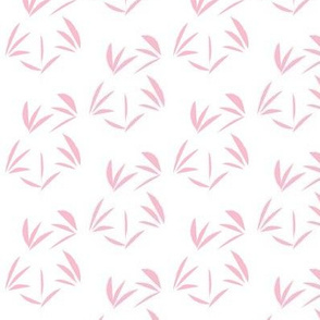 Lolly Pink Oriental Tussocks on Snowy White